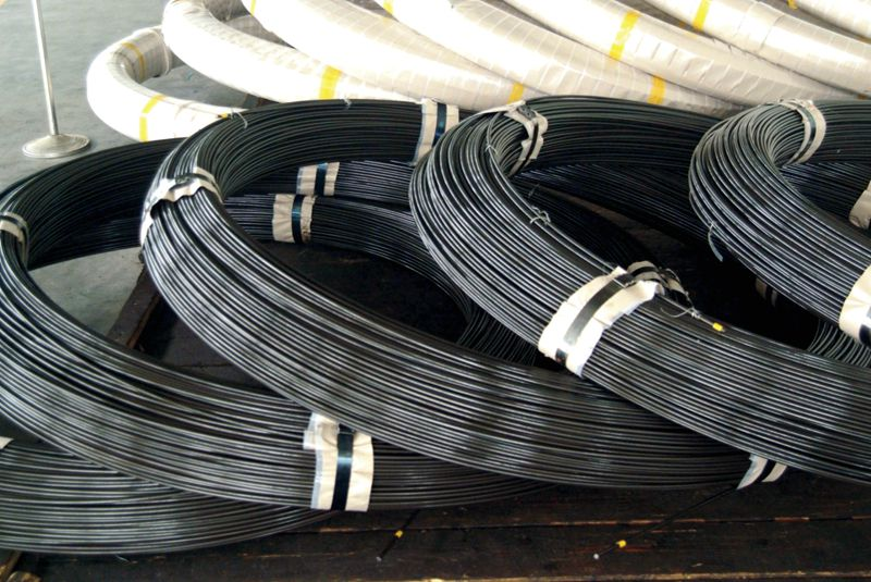 Rough oil quenching-tempering spring steel wire